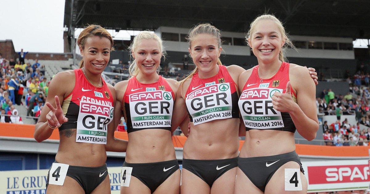 Paderborner Sprintstaffel schrammt an DM-Medaille vorbei