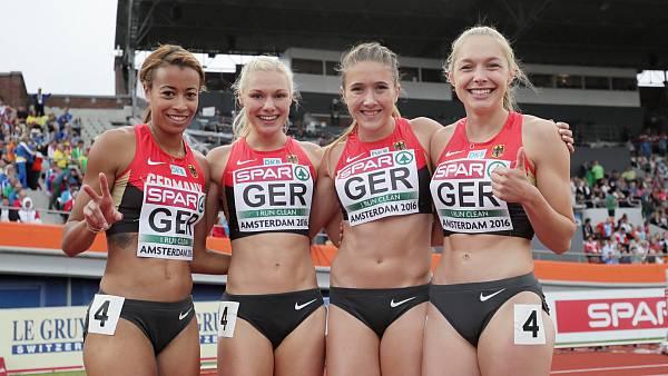 Katharina Grompe vom LC Paderborn holt die Silbermedaille